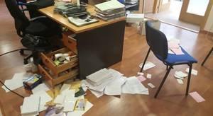El Ayuntamiento de Burguillos queda precintado tras sufrir un asalto después de la verbena popular