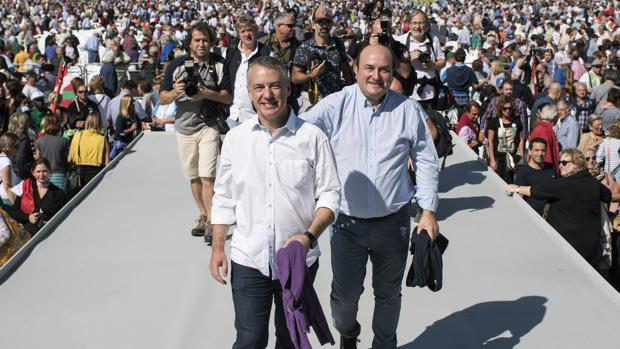 Ortuzar y Urkullu, durante el evento