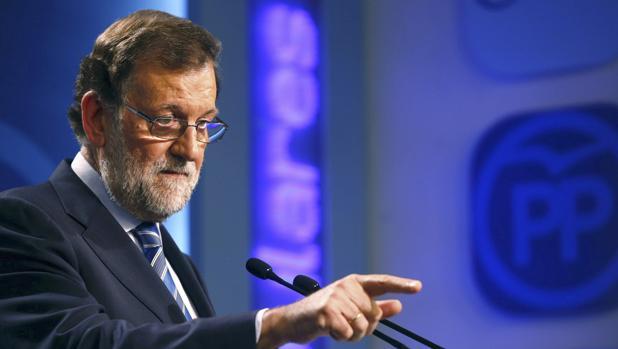 El candidato del PP a la Presidencia del Gobierno, Mariano Rajoy