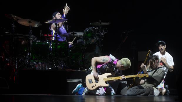 Red Hot Chili Peppers, durante una de sus actuaciones en Madrid