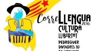 Los promotores del Correllengua utilizan el acto en Pedreguer para exhibir símbolos separatistas