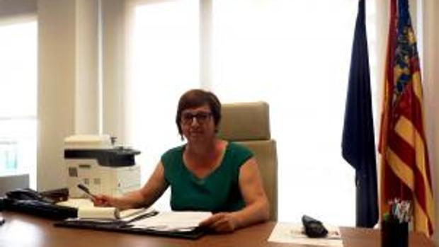 Imagen de la alcaldesa de Almassora en el saluda difundido en la web del Ayuntamiento