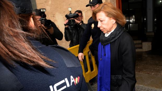 Maria Antònia Munar, en los juzgados de Palma de Mallorca en marzo de 2014