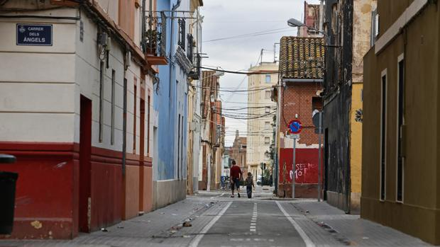 Imagen de una de las calles del barrio del Cabanyal