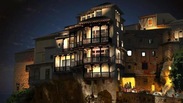 Imagen de las casas colgadas de Cuenca, uno de sus mayores atractivos