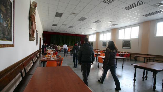 Comedor social de Cáritas en Valladolid
