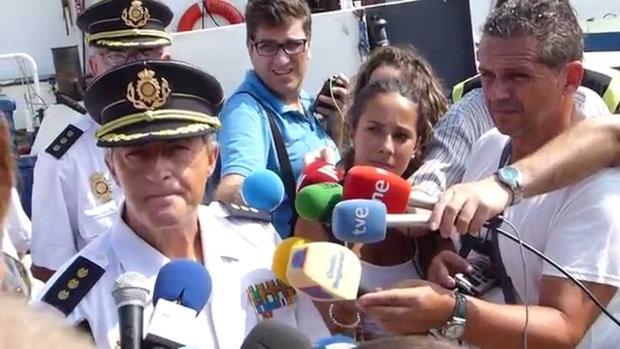 Eloy Quirós, nuevo comisario generak de Policía Judicial, atiende a los medios tras una operación antidroga