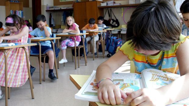 Niños en una clase de Educación Infantil