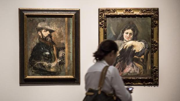 Dos de las 131 obras de la exposición del pintor valenciano Ignacio Pinazo