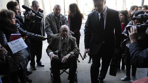 Félix Millet, en 2014 cuando acudió al juicio por el caso del hotel del Palau
