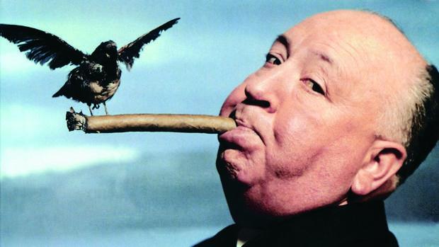 Hitchcock, en una de sus imágenes más famosas