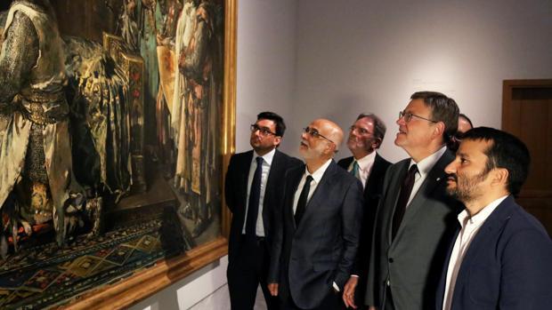 El president de la Comunitat Valenciana, Ximo Puig i el conseller d'Educació, Vincent Marzà