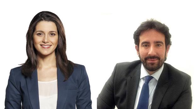 Arrimadas y su marido, Xavier Cima