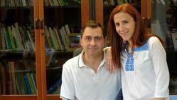 Álvaro y Elena, padres de un niño con discapacidad
