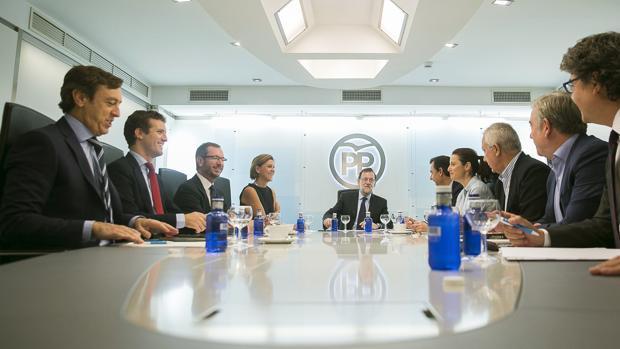 Rajoy, reunido este lunes con el Comité de Dirección del PP