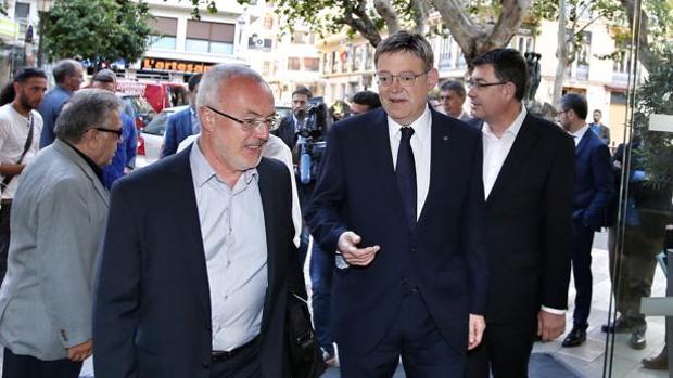 Antonio Montiel (Podemos) y Ximo Puig (PSPV)