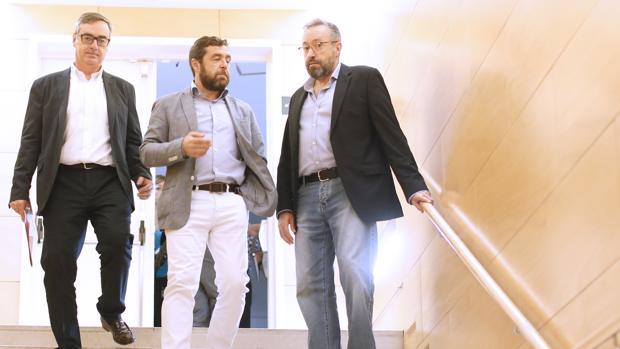 José Manuel Villegas, Miguel Gutiérrez y Juan Carlos Girauta
