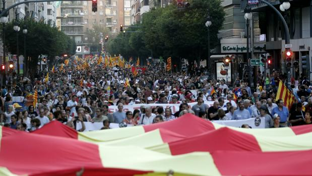 Imagen de la manifestación convocada por la Comisión 9 d'Octubre el pasado año
