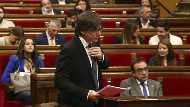 Puigdemont, este miércoles en el Parlament