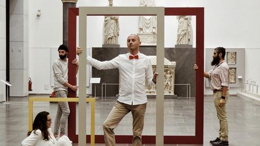 Movimiento #empty en uno de los museos de su recorrido