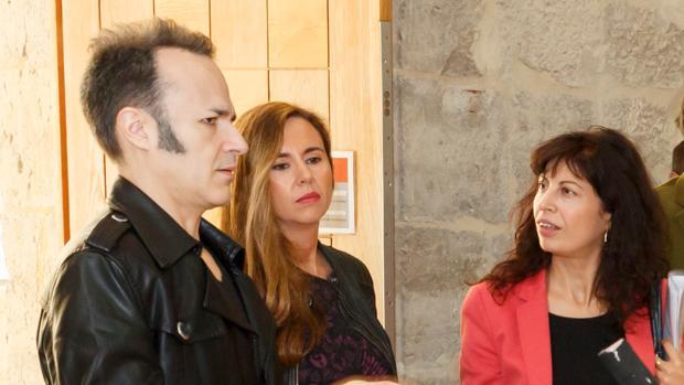Fontaneda y Redondo, durante la inauguración de la última exposición de Enrique Marty en el museo