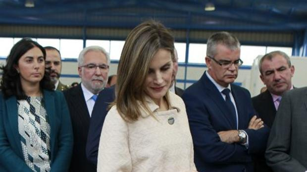 La Reina, durante su visita a Mondoñedo