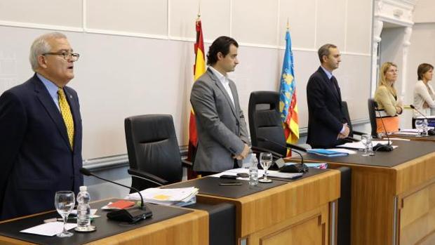 Un momento del pleno de la Diputación de Alicante celebrado este miércoles