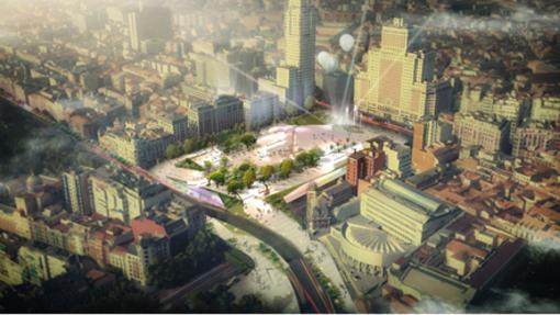 Así son los proyectos más singulares para la Plaza de España