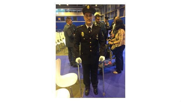 David, el policía herido en acto de servicio