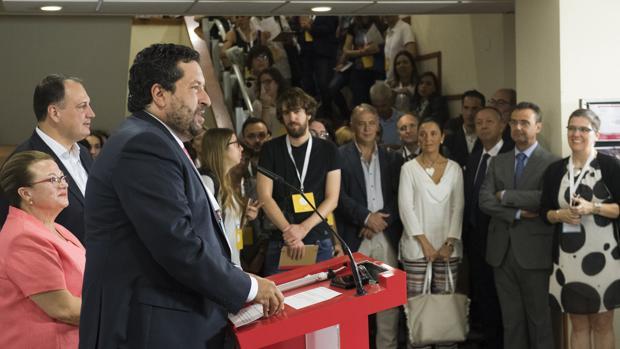 El presidente de la Diputación de Castellón, Javier Moliner, en la presentación del Work Forum
