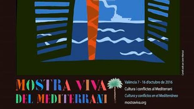 Cartel de la Mostra Viva del Mediterrani que acoge Valencia