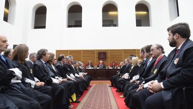 José Luis Concepción presidió ayer en Burgos la apertura del año judicial