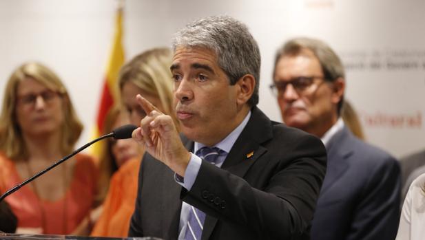 Francesc Homs, el pasado septiembre, en Madrid tras declarar ante el TS