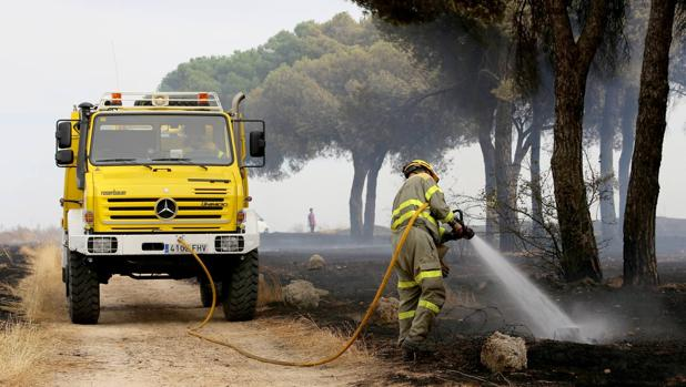 Incendio en Laguna de Duero (Valladolid)