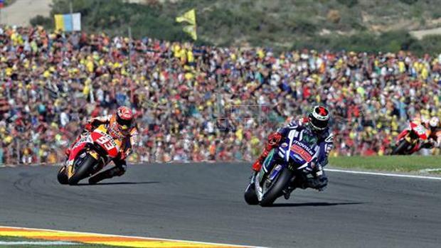 El circuito Ricardo Tormo de Cheste, durante una carrera de motos