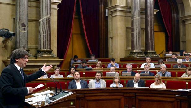Vista del Parlament durante el Debate de Política General