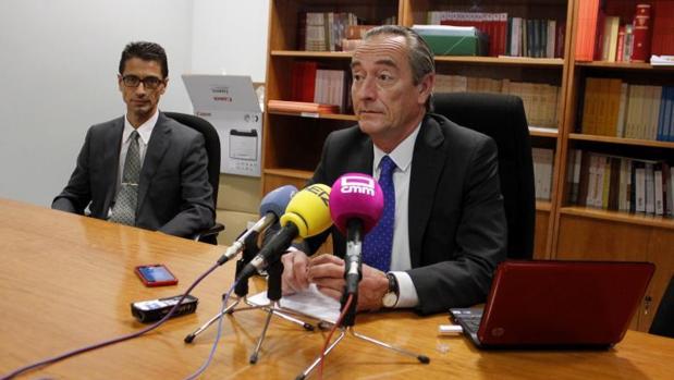 Luis Ibañez, durante la rueda de prensa