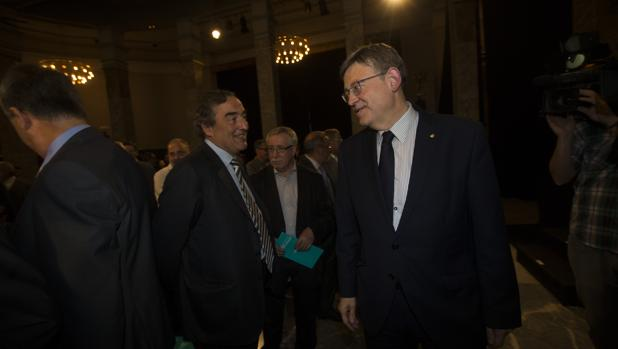 Imagen de Rosell y Puig tomada el pasado miércoles en Madrid
