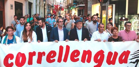 Imagen de una de las marchas organizadas por el Correllengua