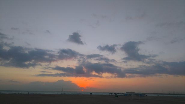 Imagen tomada este vierrnes en la playa de Las Arenas de Valencia