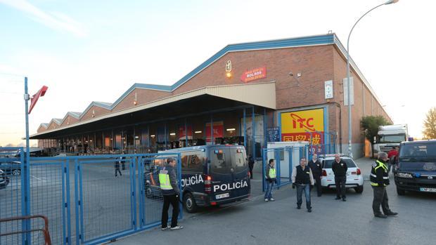 La Policía, en el polígono Cobo Calleja en una imagen de archivo