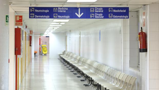 Un pasillo del Hospital de La Paz, entre los designados para atender a los refugiados