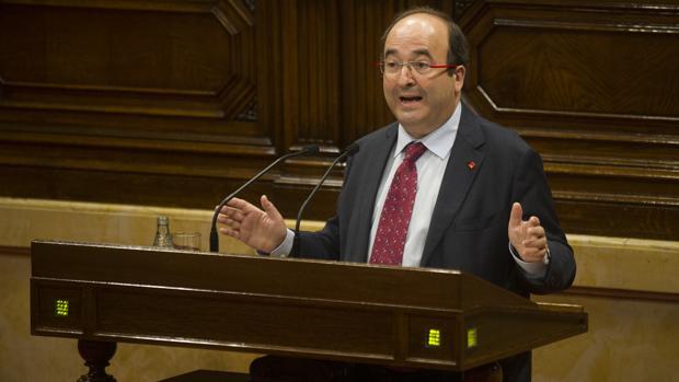 Miquel Iceta, ayer en el Parlamento catalán