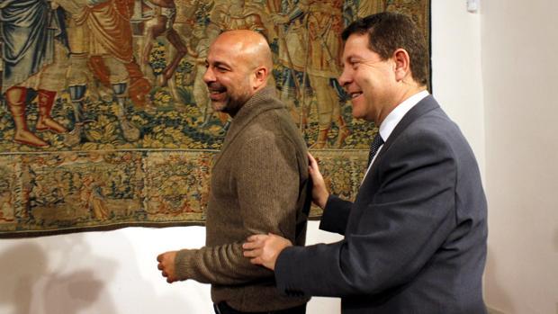 García-Page y García Molina, en la firma del pacto en el Palacio de Fuensalida