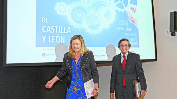 Del Olmo, junto a Juan Carlos Margarida en la clausura del Día del Auditor en Castilla y León