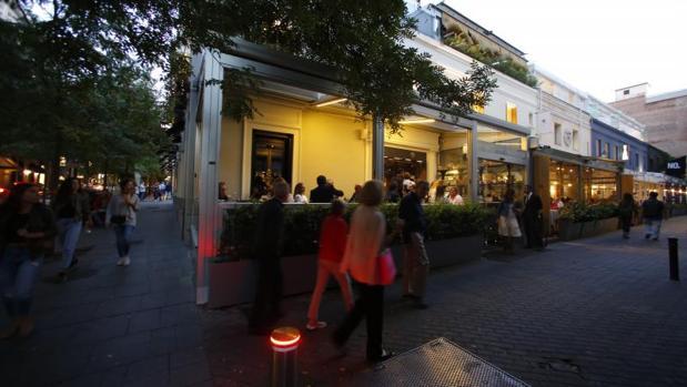 El entorno de la calle Jorge Juán, en plena Milla de Oro, es una de las zonas con más densidad de restaurantes de la capital