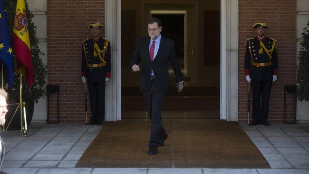 Mariano Rajoy, este viernes pasado en el Palacio de la Moncloa