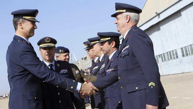 La última vez que Don Felipe visitó la Base Aérea fue en abril de 2014