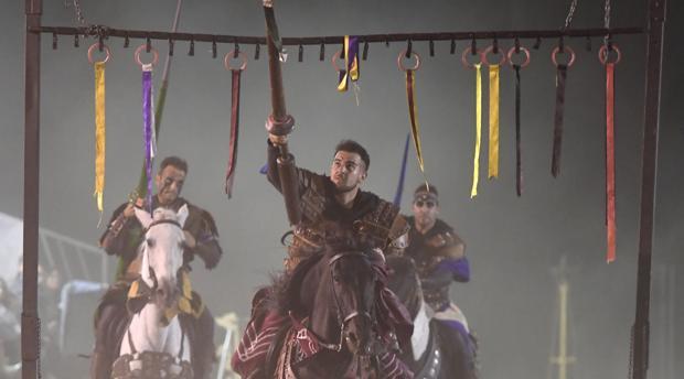 Uno de los concursos medievales celebrados en el Mercado Cervantino