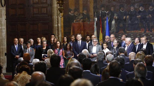 Imagen del acto institucional del 9 d'Octubre, Día de la Comunidad Valenciana